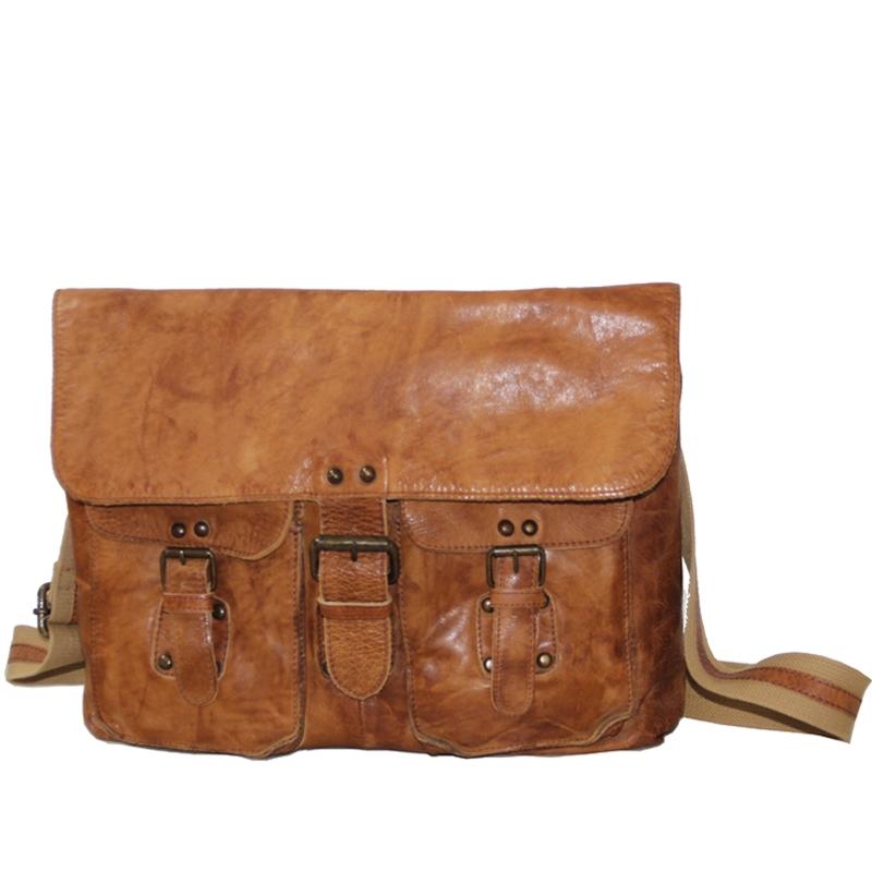 lys læder taske